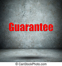 Guarantee on concrete wall