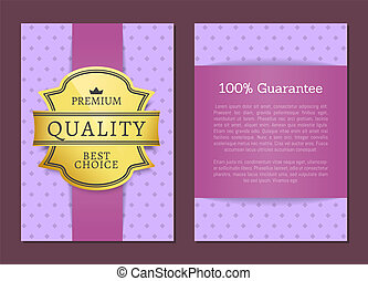 Guarantee Premium Quality Best Choice Golden Label