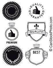Guarantee, premium, quality