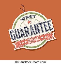 Guarantee product tag