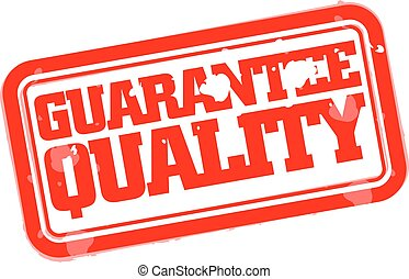 Guarantee quality rubber stamp
