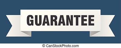 guarantee ribbon. guarantee isolated sign. guarantee banner