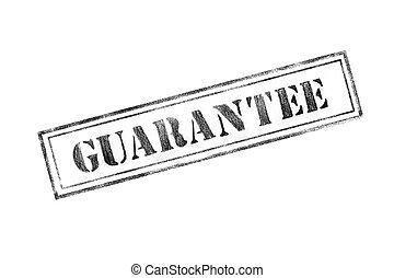 'GUARANTEE' rubber stamp over a white background
