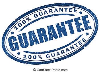 Guarantee stamp - Guarantee blue stamp