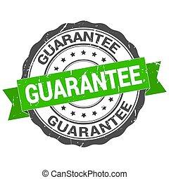 Guarantee stamp. Round grunge vintage ribbon Guarantee sign