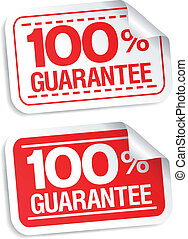 guarantee stickers.
