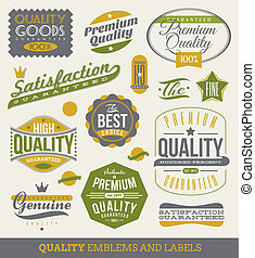 guaranteed, étiquettes, qualité