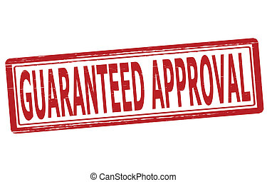 Guaranteed approval - Stamp with text guaranteed approval...
