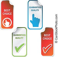 guaranteed, -, choix, vecteur, qualité, autocollants, mieux