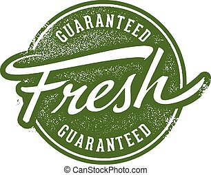 Guaranteed Fresh Stamp