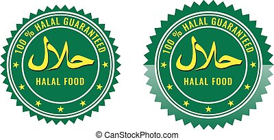 Guaranteed Halal sign certified product label. - Guaranteed...