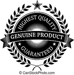 guaranteed, il più alto, genuino, qualità, etichetta