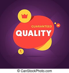 Guaranteed quality flat vector banner