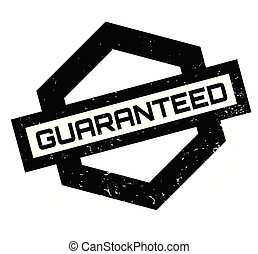 Guaranteed rubber stamp. Grunge design with dust scratches....