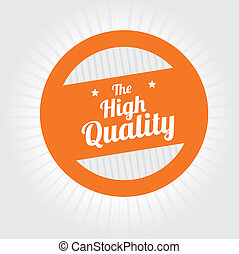 guaranteed seal over gray background vector illustration