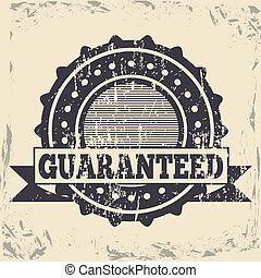 guaranteed seal over vintage background vector illustration