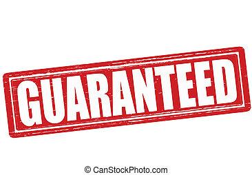 Guaranteed - Stamp with word guaranteed inside, vector ...
