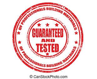 guaranteed, tested-stamp