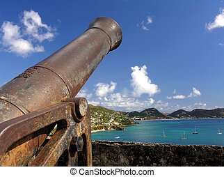An old cannon in a fortress...