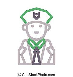 guard color line icon