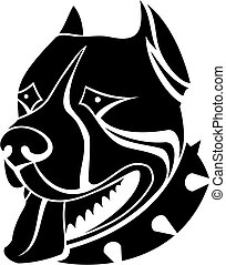 Isolated guard dog as a symbol or emblem
