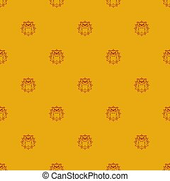 Guard dog pattern seamless. Angry bulldog head background. vector texture