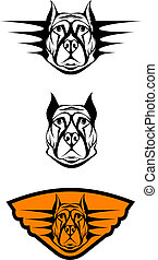 Set of guard dogs as a symbol or emblem