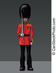 Figure British guardsman with a saber.