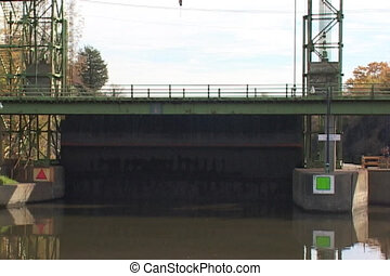 guard gate in New York's Erie Canal - A guard gate in New...