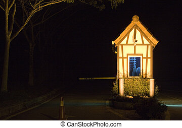Guard House at Night