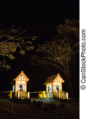Guard Houses at Night