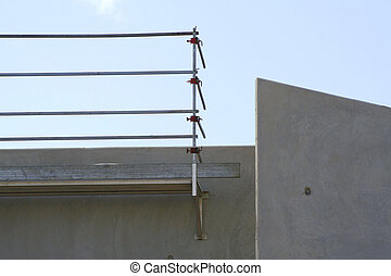 Safety Guardrail at Construction Site