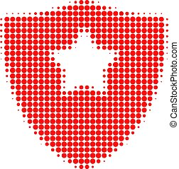 Guard Shield Halftone Dotted Icon