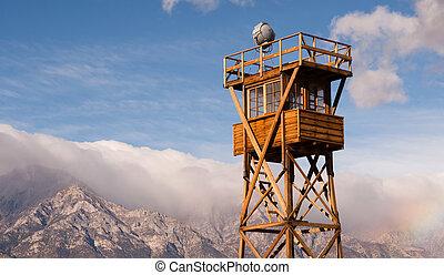Guard Tower Searchlight Manzanar National Historic Site