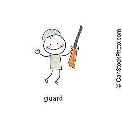 Guard. Illustration.