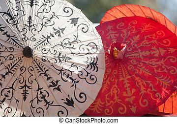 guarda-chuva, Asiático