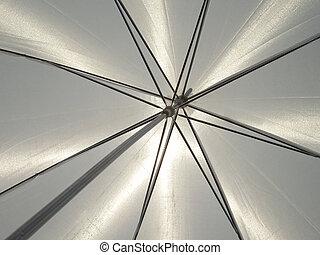 guarda-chuva branco