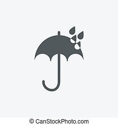 guarda-chuva branco, isolado, fundo