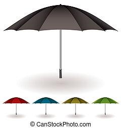 guarda-chuva, coloridos, cobrança