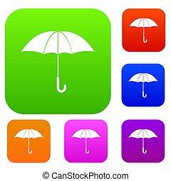 guarda-chuva, jogo, cobrança