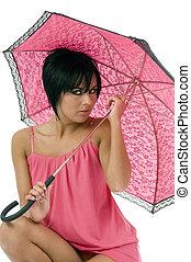 guarda-chuva, mulheres