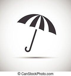 guarda-chuva, proteção, simples, chuva, vetorial, ícone