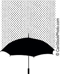 guarda-chuva, silueta