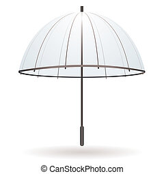guarda-chuva, transparente