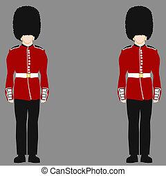guarda, real, britânico