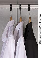 guarda-roupa, modernos, roupas