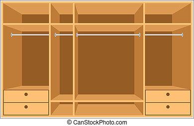 guarda-roupa, room., mobília