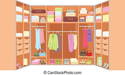 guarda-roupa, sala