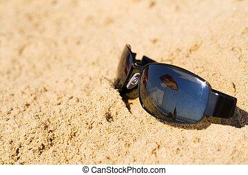guarda-sol, sunglass, reflets