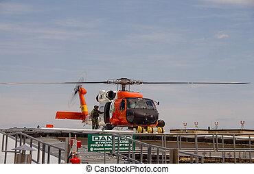 guardacostas, jayhawk, rescate helicóptero